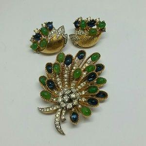 Jomez brooch and earring set